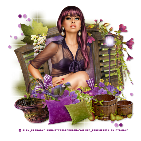 "Tutoriel ""My Secret Purple Garden"" de Chrisje"
