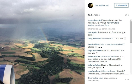 Shantel VanSanten sur Instagram  Somewhere over the rainbow..