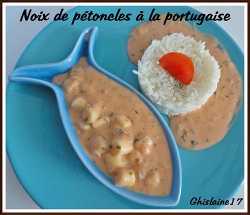 Noix de pétoncles à la portugaise