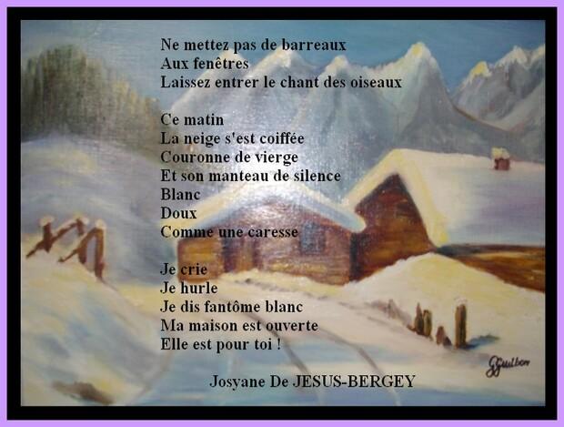Auteur  : Josyane De JESUS-BERGEY.