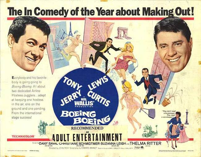 BOEING BOEING - JERRY LEWIS BOX OFFICE 1966