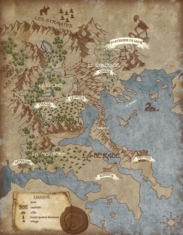 Carte du monde bérique