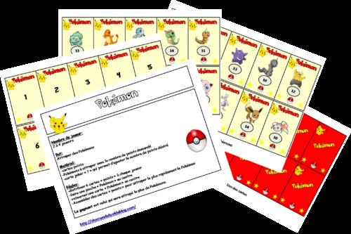 Jeu calcul mental rapide: Pokémon