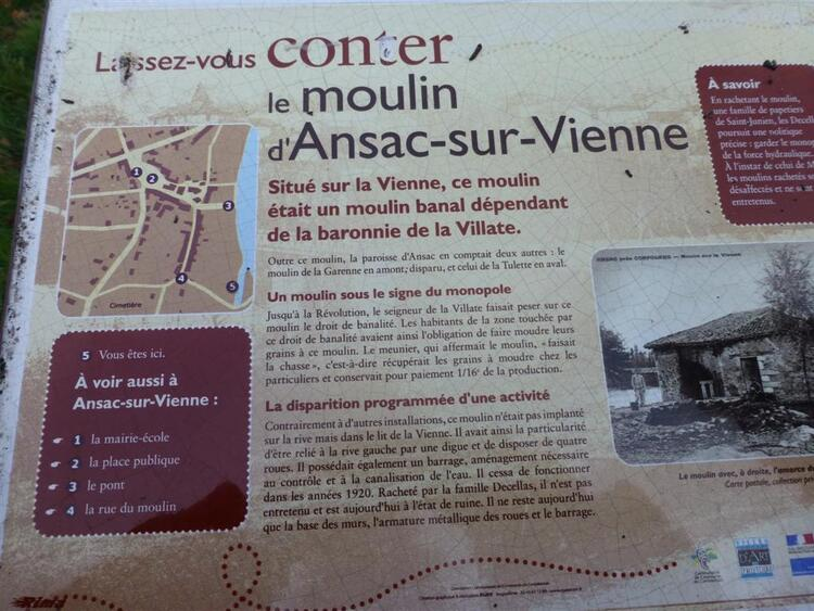 Ansac sur Vienne,Charente.
