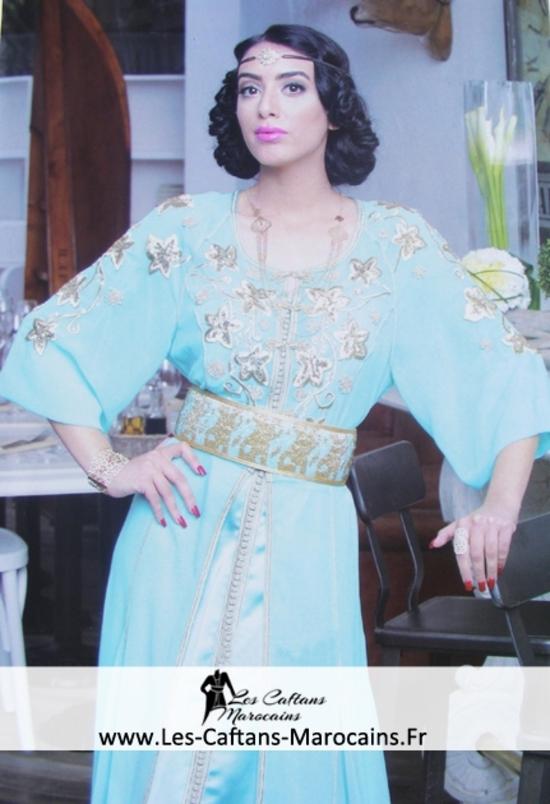 Takchita marocaine en ligne de la haute couture marocaine 2015 pas cher  TAK S1047-fr