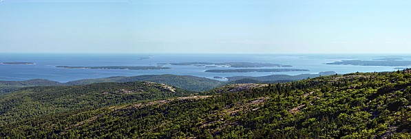 Acadia NP Cadillac Mountain Panorama 2c copie