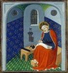 Saint Pierre écrivant - Enluminure - Guiard des Moulins