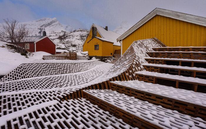 Archipel des Lofoten en hiver, Norvège arctique  par le  Photographe Micke Reyfman