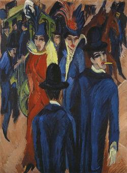 Kirchner_Berlin_Street_Scene_1913Ernst Ludwig Kirchner, Berliner Straßenszene (Scène de rue à Berlin)