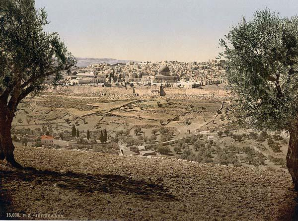 From the Mount of Olives, general view, Jerusalem, Holy Land