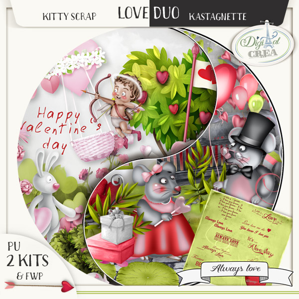 Love Duo Always Love by Kastagnette et Kitty Scrap