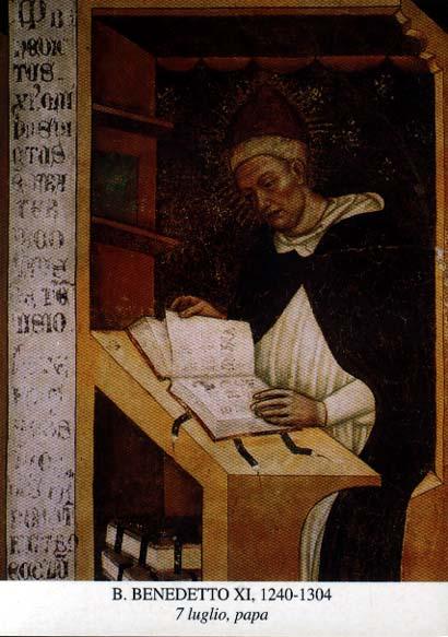 Bienheureux Benoît XI. Pape (192 ème) de 1303 à 1304 († 1304)