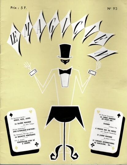 Couverture magazine : Le magicien . Collection Mme Balma verd Denise