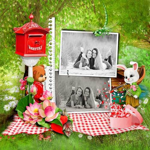 Romantic Day With The Friends by dentelle scrap
