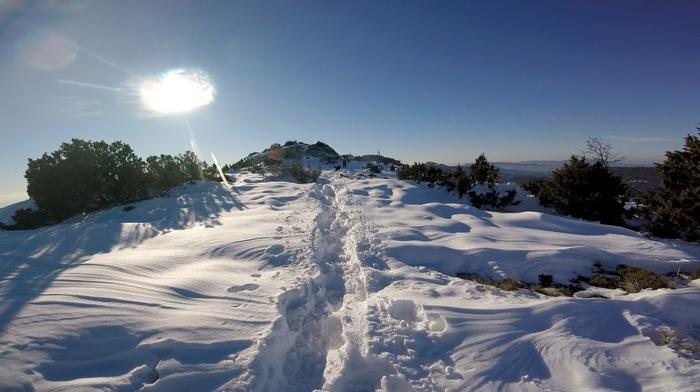 2017-12-4 St Baume sous la neige Vidéo de NICO
