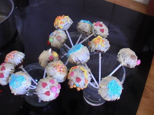 Cakes pops avec moules en silicone