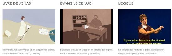 La Bible en langue des signes