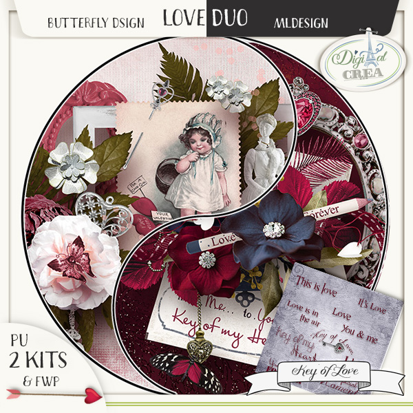 Love Duo KEY OF LOVE by MLDesign et Butterfly Dsign