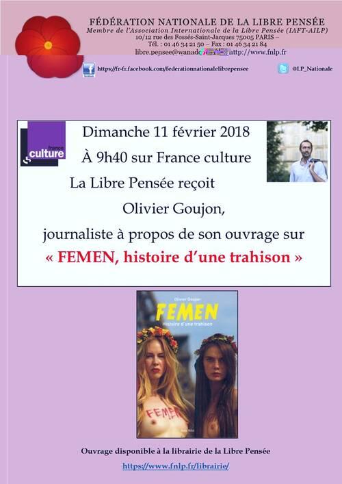 Sur France Culture: Réécouter la Libre Pensée 11 02 2018