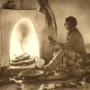 y. SouHome from the hunt. Taos Pueblo, New Mexico. Early 1900s. Photo by Carl Moon -Fred Harverce -