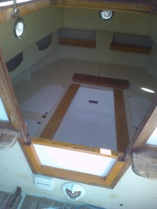 Interieur de la cabine  terminée