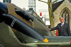 """French ambassador unveils memorial to wartime hero, pilot Yves Mahe"""