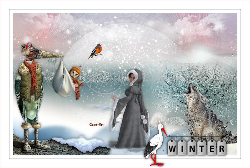 Winter Stork - Renée Graphisme