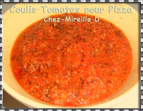 Coulis de Tomates pour Pizza
