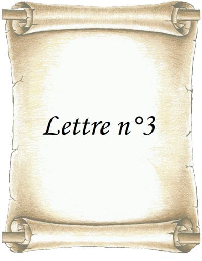 Lettre n°3