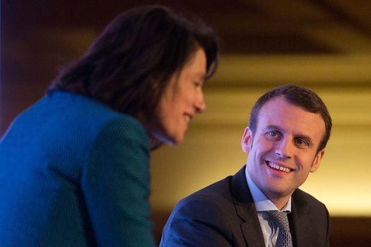 """Le ministre de l'économie Emmanuel Macron lors du sommet """"futur de l'Europe"""" à Londres le 14 avril 2016."""