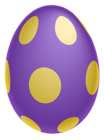 Purple Dotted Easter Egg PNG Clipairt Picture