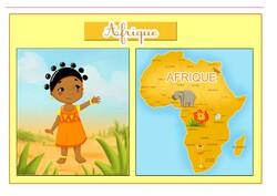 La carte de l'Afrique