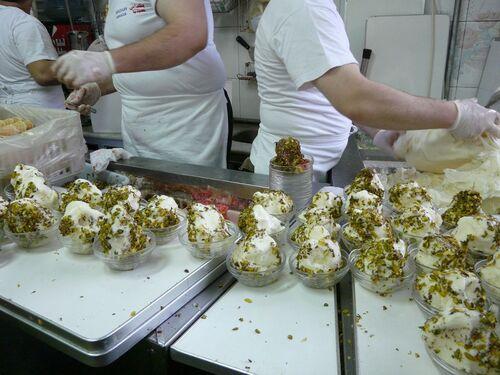 la glace vanille-pistache du souk de Damas