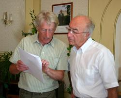 Peter Sinclair; lettres échangées...