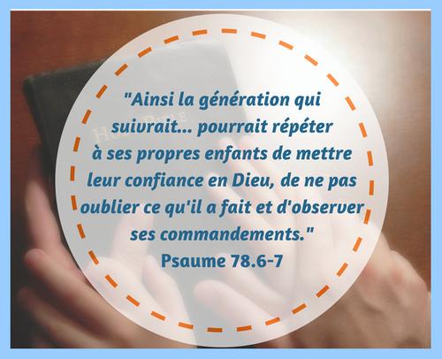 Ma Famille et Moi - Lecture et Prièrer (4)