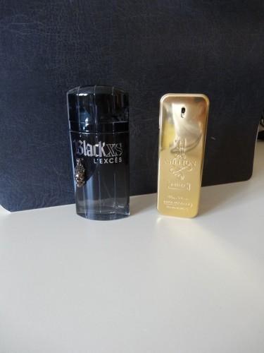 bouteille de parfum de marque vide