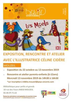 Exposition/atelier à la bibliothèque de Mouzeil (44850)