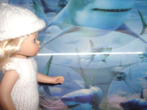 Camille à l'aquarium...