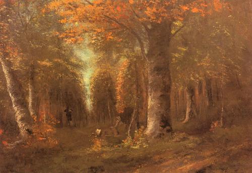 Forêt en Automne - Gustave Courbet (1841)