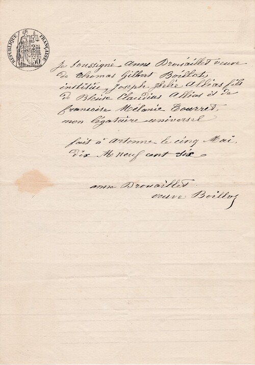 Testament 5/5/1906