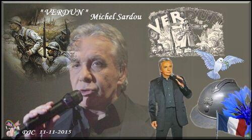"""11 novembre 2015 - Michel Sardou """" Verdun  """""""