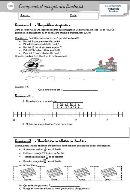 Les fractions cm1 pour aller l 39 essentiel locazil - Fraction cm1 a imprimer ...