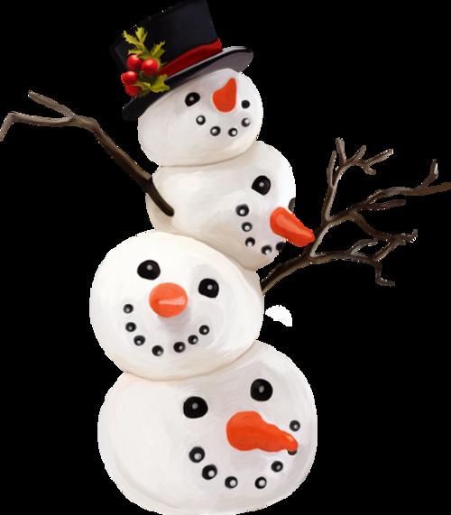 petits bonhomme de neige ...