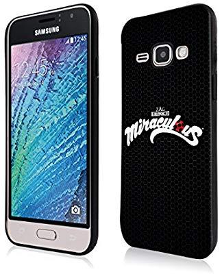 Coque de téléphone 4 - Fond noir avec écrit Miraculous