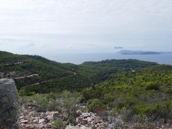 Du coin pique-nique, vers le cap Sicié et la presquîle de Saint-Mandrier