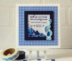 shaker card félicitation naissance