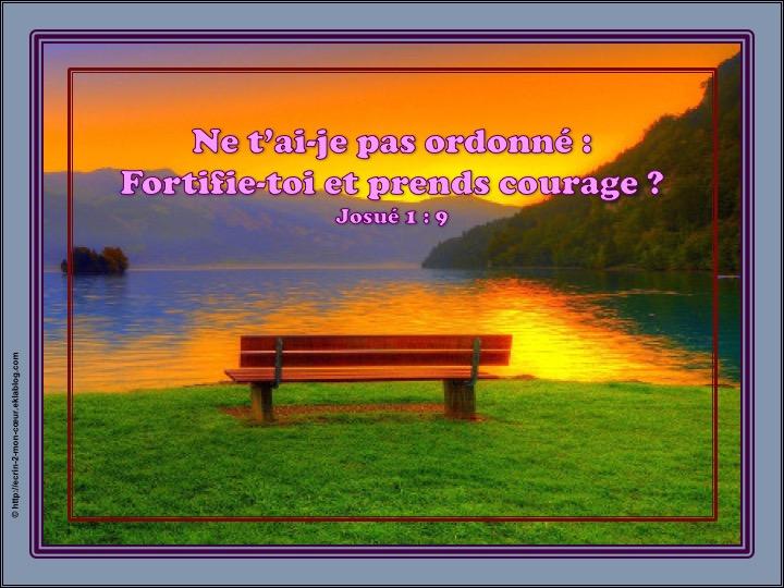 Fortifie-toi et prends courage - Josué 1 : 9