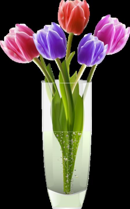 Fleurs  dans vase