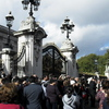 Oui notre dernier jour, sans le vouloir, la fin de la releve de la garde à Buckingham