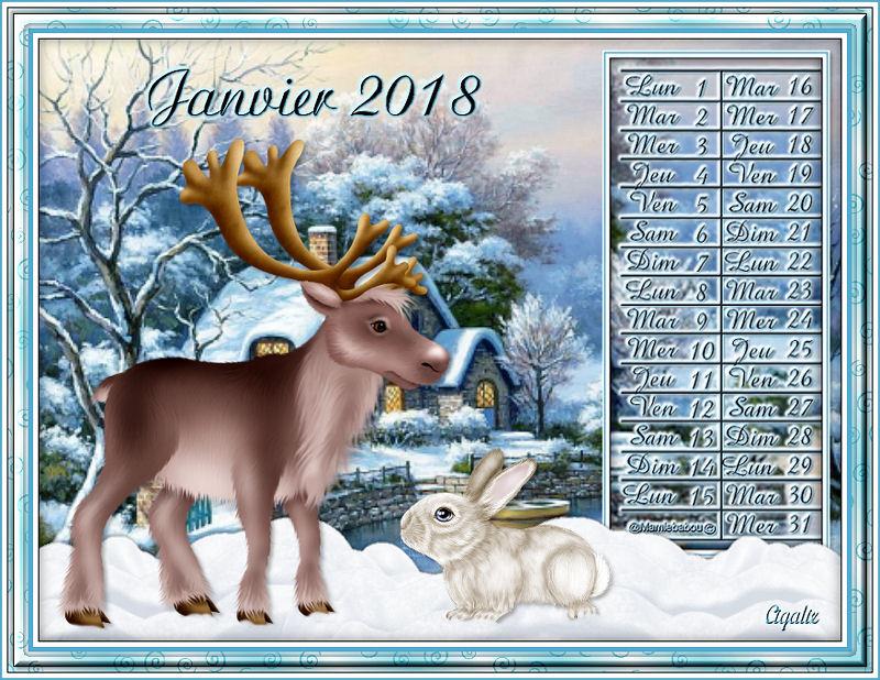 Calendriers janvier 2018